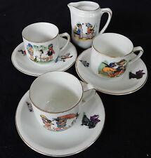 Bel ensemble Porcelaine de Limoges décor enfantins (tasses, etc.)