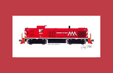 """Vermont Railway RS3 11""""x17"""" Matted Print Andy Fletcher signed"""