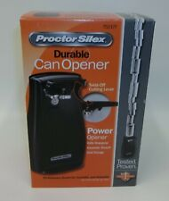 Proctor Silex Black Can Opener - New in Box