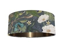 Luxurious Peacock Velvet Fabric Lampshade *6 Brushed Linings* Bronze Champagne
