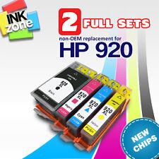 2 Completa Juego de No OEM Tinta para HP Officejet Gran Formato Impresoras 7000