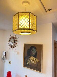Vintage 'spirograph' Light Shade 60s 70s Retro Lamp Mid Century String Art