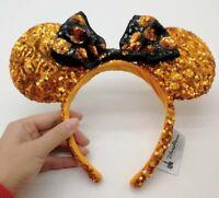 HONG KONG Disney Parks Gold Minnie Mouse Bow Sequins Ear Headband Ears