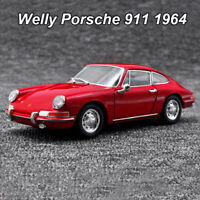 Welly 1:24 Porsche 911 1964 Roadster Diecast Model Car Collection Toy New In Box