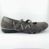 Skechers Bikers - Grey Mary Jane- shoes Size US 8 UK 5 EUR 38, 25 cm
