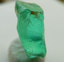 2.6ct 10mm facet grade etched Emerald Beryl natural slice - Nigeria