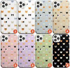 Cute Cat Face Pattern Slim Phone Case for iPhone   Kitten Feline Patterned Sweet