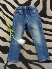 coole Jungen Mädchen Jeans Gr. 98/104 blau used look TOP