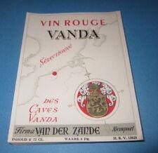 Wholesale Lot of 100 Old Vintage - Vin Rouge - VANDA - European Wine LABELS