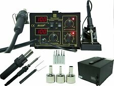 852D SOLDERING IRON STATION HOT AIR REWORK SMD DC POWER SUPPLY   Built to Last!