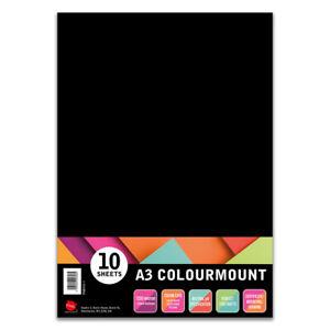 A3 Colourmount 10 sheets of Black 1250 Micron Mounting Board photography