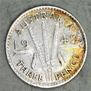 Australia 1942 3 Pence Silver Coin