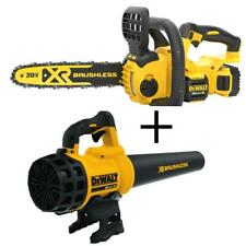 DEWALT Chainsaw 12 Compact Cordless w/ Leaf Blower Charger Battery 20-Volt MAX