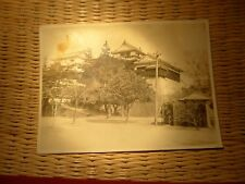 VINTAGE OLD JAPANESE 2ND WW PHOTOGRAPH INSCRIPT PERIOD CASTLE SAMURAI  DWELLING