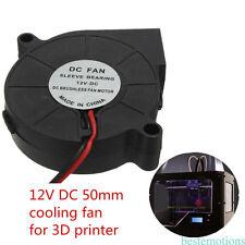 3D Printer Printer 50mm Cooling Cooler Fan Cooler 12V Black 50X50X15m