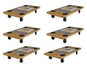 6x Transportroller 58x29 Rollbrett Transportbrett Möbelroller Transporter Roller