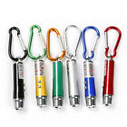 10pcs 3 in 1 Mini Laser Pen Pointer LED Torch Light UV Keychain Pet Toy