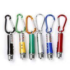 10pcs 3 in 1 Mini Laser Pen Pointer LED Torch Light UV Keychain Pet Toy