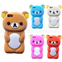 3D Rilakkuma Bear Soft Silicone Phone Case Cover Back Skin For iPhone 7 Plus
