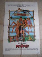 Vintage Movie Poster 1 sheet Meatballs 1979 Bill Murray, Harvey Atkin
