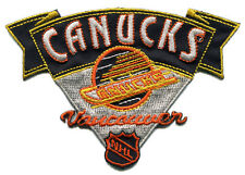 "1978-91 VANCOUVER CANUCKS NHL HOCKEY 4"" BANNER STYLE TEAM LOGO PATCH"