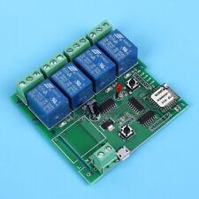 4-Channel Wireless Wifi Relay Switch Module Jog Self-Lock Interlock APP Control