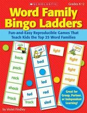 Word Family Bingo Ladders : Fun-and-Easy Reproducible Games That Teach Kids the