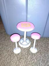 Barbie Scoop N Swirl Ice Cream Shop Table & Stools