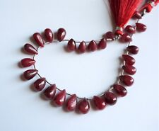Red Ruby pear beads. Graduated ruby teardrop beads. Semiprecious gemstone beads