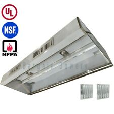 20 Ft Restaurant Commercial Kitchen Grease Exhaust Hood Make Up Air Supply Air