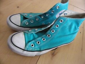 Converse Chuck Taylor ALL STAR turquoise high top sneakers mens size 6 Womens 8