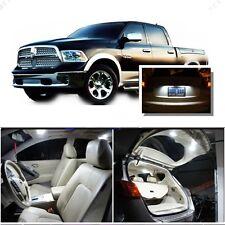 For Dodge Ram 1500 2500 3500 2009-16 White LED Interior kit +White License Light