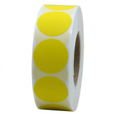 """Yellow Color Coding Dot Labels 1"""" Round Stickers 10 Rolls(10,000 Labels)"""