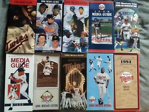 Minnesota Twins Media Guides 1990 thru 1999 Puckett Carew Killebrew