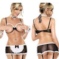 Women's Sexy Lingerie Sex Toys Lace Dress Underwear Babydoll Sleepwear G-string