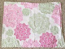 Tommy Hilfiger Pink Green Pillow Sham Standard