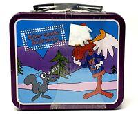 Vintage 1997 Rocky & Bullwinkle Hokey Smoke Mini Metal Lunch Box Sealed New