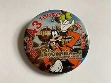 Disneyland 43rd Birthday BUTTON Tomorrowland 1998 Goofy Disney Pin 21032