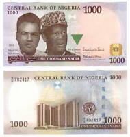 UNC NIGERIA 1000 Naira Note (2013) P-36i