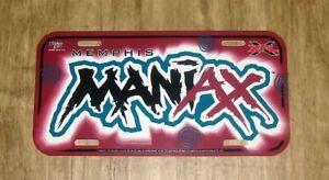 2001 Inaugural XFL Football League License Plate - Memphis Maniax