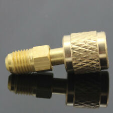 "NT 1/4"" R410A Brass Refrigerant Adapter Male To 5/16"" Female Charging Hose Pump"