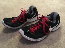 Nike Revolution 2 Mens Athletic Shoes. Black w/ Red. Size 12.