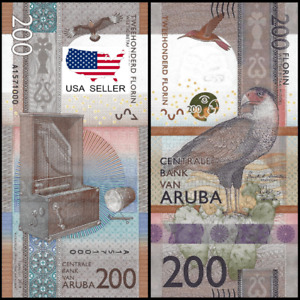 UNC Uncirculated 200 Aruba Florins Banknote 2019 RARE[Brand New Ships from USA]