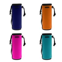 Neoprene Water Bottle Carrier Insulated Cover Holder Drawstring Bag Cycling
