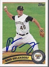 Texas Rangers ROSS OHLENDORF Signed 2011 Topps Card