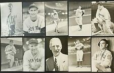 Vintage KODAK POST CARD Lot of 10 Lou Gehrig Ted Williams (2) Hank Greenberg MLB