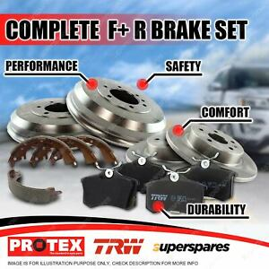 Front + Rear Disc Brake Rotors Pads Drums Shoes for Honda City VF 84-86
