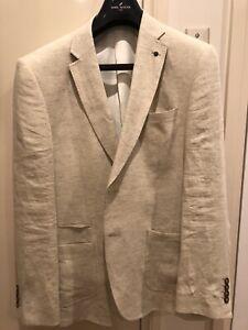 BNWOT Daniel Hechter Linen Suit Jacket Size 108
