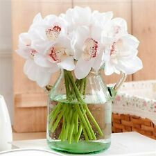6 Heads Of Artificial Flowers Cymbidium Simulation Orchid Bouquets Touch