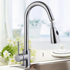 Single Handle Tap Shower Spray Swivel Spout Pull Out Kitchen Sink Basin Faucet